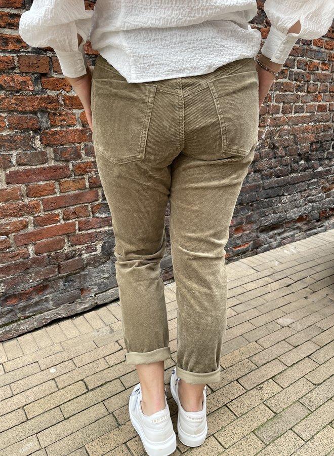 Circle ruby rib jeans brown