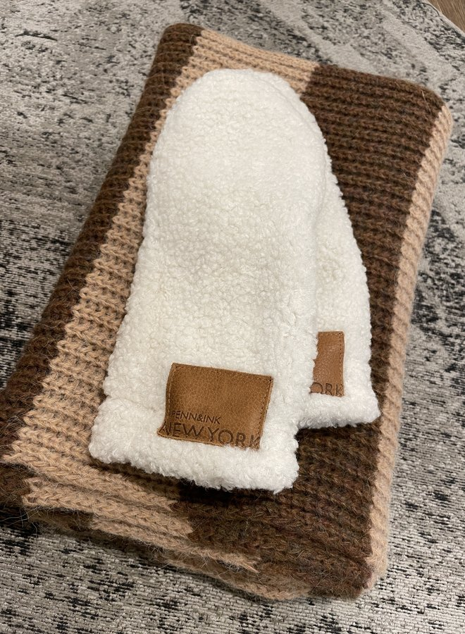 Penn&Ink mittens off white