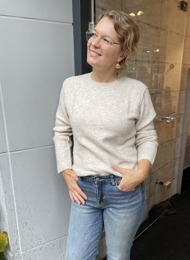 Yaya boxy sweater wool white