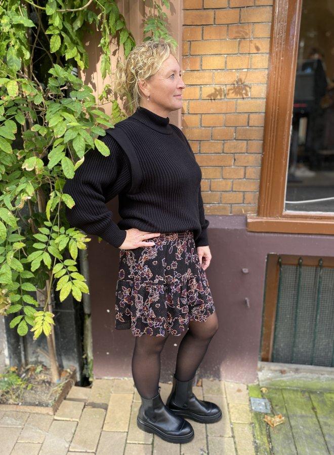 SF fray knit black