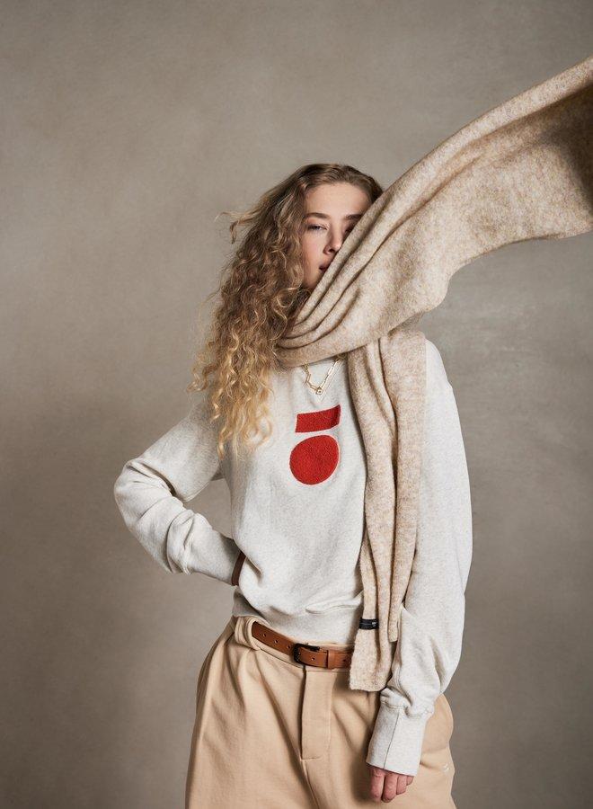 10DAYS icon sweater soft white