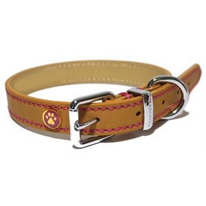 Rosewood Luxury leather halsband hond leer luxe zand