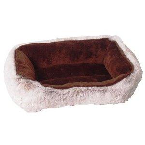 Merkloos Divan hamster bed pluche bruin