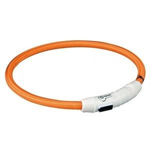 Trixie Trixie halsband flash light lichtgevend usb oplaadbaar oranje