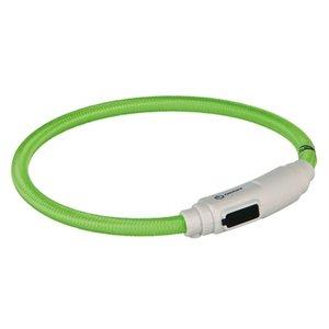 Trixie Trixie halsband kat flash light lichtgevend usb oplaadbaar groen