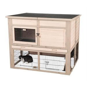 Trixie Trixie natura konijnenhok xl met isolatie grijs