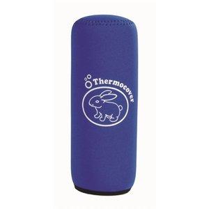 Merkloos Thermohoes blauw voor drinkfles 600 ml