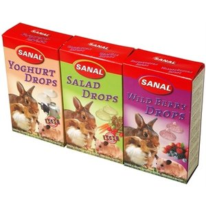 Sanal Sanal knaagdier 3-pack drops yogurt/salad/wild berry