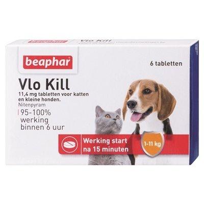 Beaphar Beaphar vlo kill+ kleine hond/kat tot 11 kg