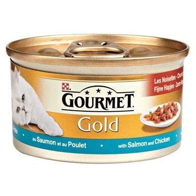 Gourmet 24x gourmet gold fijne hapjes zalm / kip
