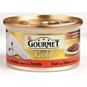 Gourmet 24x gourmet gold cassolettes duet van vlees in saus met tomaten