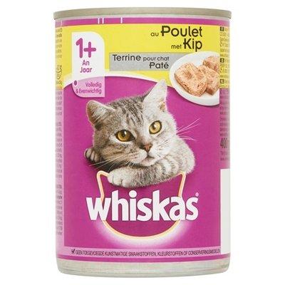 Whiskas 12x whiskas blik adult pate kip