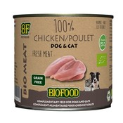 Biofood 12x biofood organic kat 100% kip blik