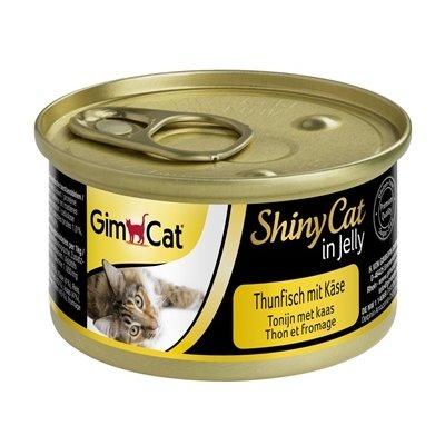 Gimcat 24x gimcat shinycat in jelly tonijn / kaas