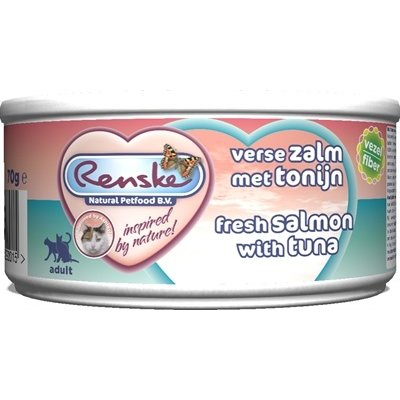 Renske 24x renske vers vlees maaltijd kat verse tonijn met zalm vezels