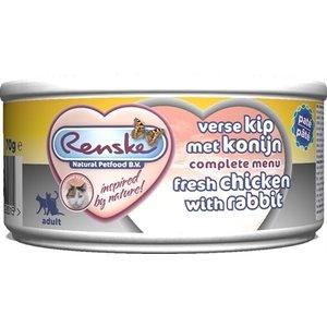 Renske 24x renske vers vlees maaltijd kat verse kip met konijn patÉ
