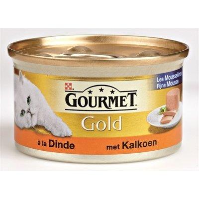Gourmet 24x gourmet gold fijne mousse kalkoen