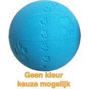 Merkloos Bal rubber pawprint/geluid
