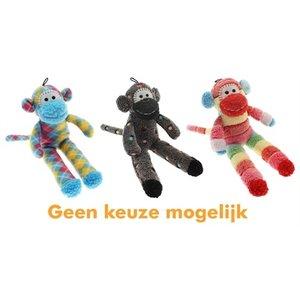 Multipet Multipet pluche sock monkey assorti