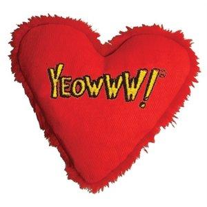 Yeowww Yeowww hart met catnip rood