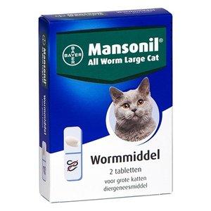 Mansonil Mansonil grote kat all worm tabletten