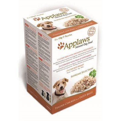 Applaws Applaws dog pouches multipack jelly supreme