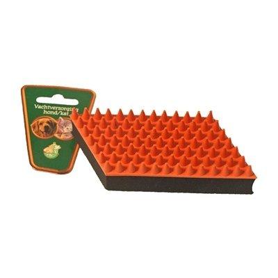 Boon Boon rubber massageborstel oranje / zwart