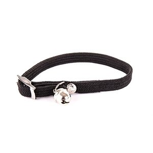 Martin sellier Halsband kat elastisch nylon zwart