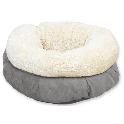 Afp Afp lamswol donut bed grijs