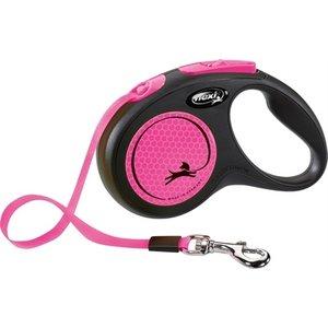 Flexi Flexi rollijn new neon tape zwart / neon roze