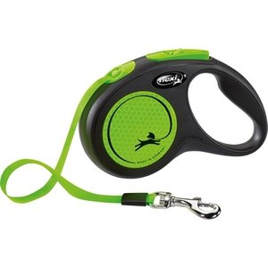 Flexi Flexi rollijn new neon tape zwart / neon groen