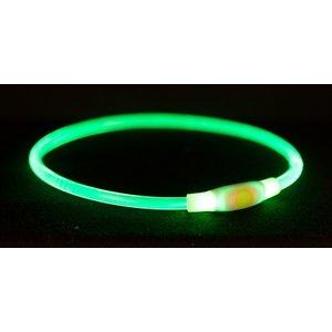 Trixie Trixie halsband usb flash light lichtgevend oplaadbaar groen
