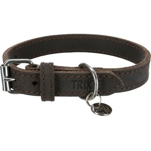 Trixie Trixie halsband hond rustic vetleer donkerbruin