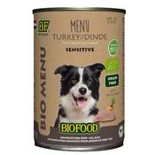 Biofood 12x biofood organic hond kalkoen menu blik