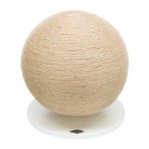 Trixie Trixie krabpaal bal op voet jute / hout
