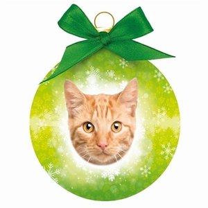 Plenty gifts Plenty gifts kerstbal rode tabby kat