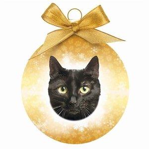 Plenty gifts Plenty gifts kerstbal zwarte kat