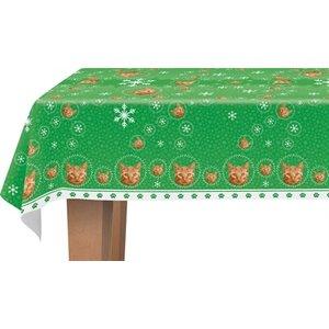 Plenty gifts Plenty gifts tafellaken kerst rode tabby kat