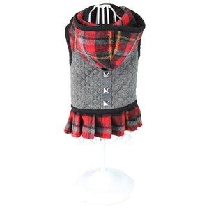 Croci Croci hondentuig / jurk karen ruit grijs / rood