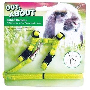 Happy pet Happy pet konijnen harnas en looplijn groen
