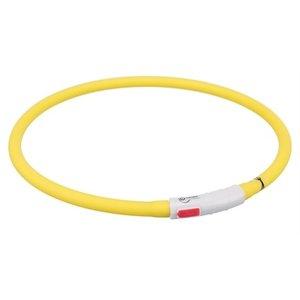Trixie Trixie halsband usb flash light lichtgevend oplaadbaar geel