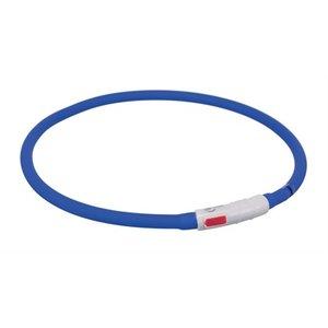 Trixie Trixie halsband usb flash light lichtgevend oplaadbaar royal blauw