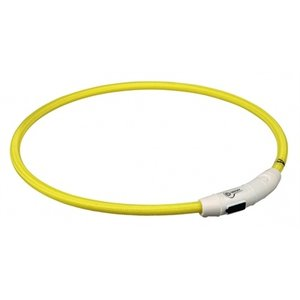Trixie Trixie halsband flash light lichtgevend usb oplaadbaar geel