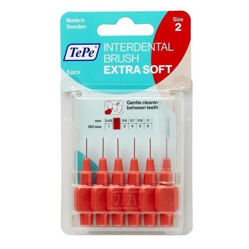 TePe TePe Interdentale ragers extra soft lichtrood 0,5mm - 6st