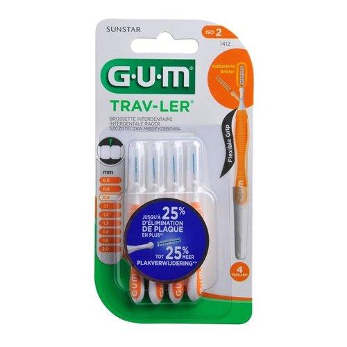 GUM GUM Trav-ler ragers 0,9 mm oranje - 4st