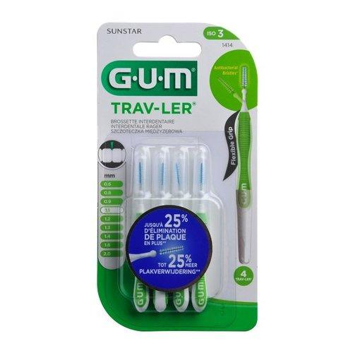 GUM GUM Trav-ler ragers 1,1 mm groen - 4st