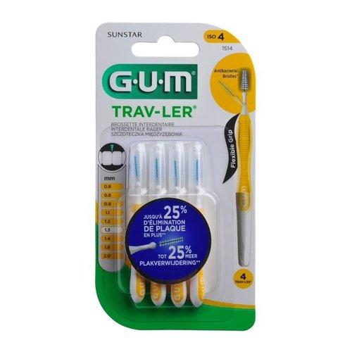 GUM GUM Trav-ler ragers 1,3 mm geel - 4st