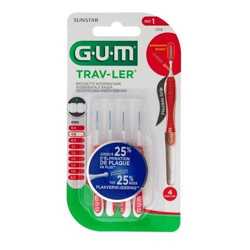 GUM GUM Trav-ler ragers 0,8 mm rood - 4st