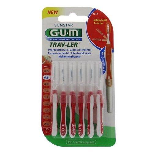 GUM GUM Trav-ler ragers 0,8 mm rood - 6st