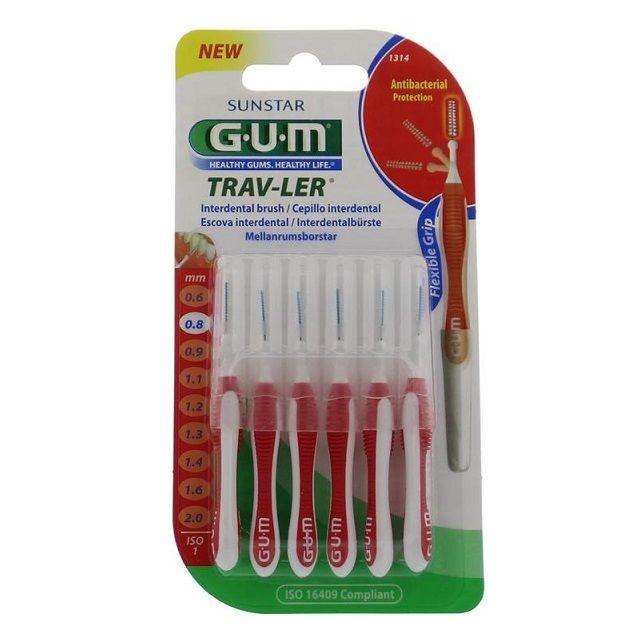 GUM Trav-ler ragers 0,8 mm rood - 6st